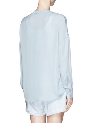 Back View - Click To Enlarge - Vince - Collarless silk blouse