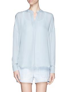 VINCECollarless silk blouse