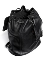 'Padlock' leather backpack