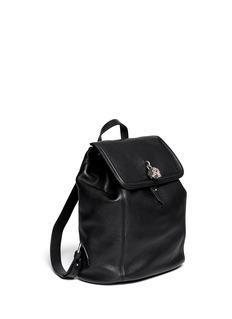 ALEXANDER MCQUEENSkull padlock leather backpack
