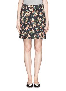 ERDEM'Calista' garden floral skirt