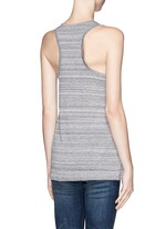Stripe racer back tank top