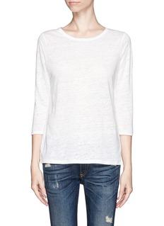 VINCEQuarter sleeve linen T-shirt