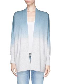 VINCEDip dye open front wool-cashmere cardigan