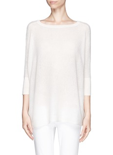 VINCE Eyelet knit cashmere sweater