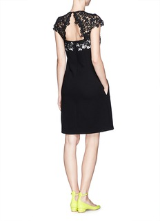 ERDEM'Ananda' embroidery lace dress