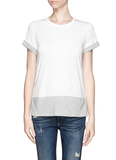 VINCE Contrast sleeve and hem T-shirt