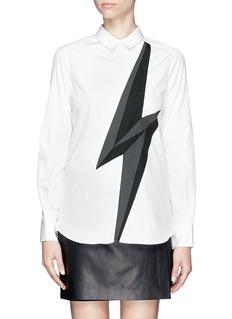 NEIL BARRETTLightning poplin shirt