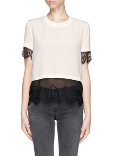 SANDRO Sheer lace underlay top