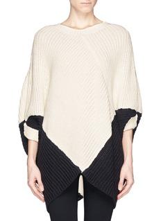 MAJE'Kassiope' bicolour poncho sweater