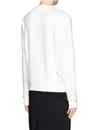 Back View - Click To Enlarge - SANDRO - 'Twisted' brush print sweatshirt