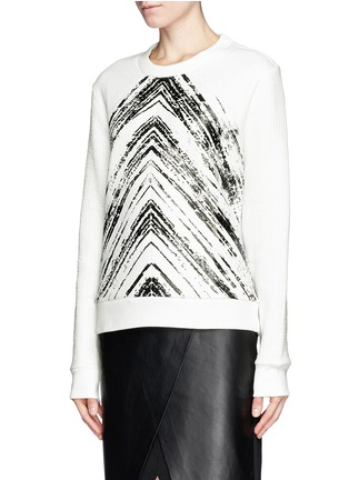 Front View - Click To Enlarge - SANDRO - 'Twisted' brush print sweatshirt
