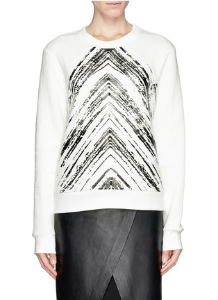 Main View - Click To Enlarge - SANDRO - 'Twisted' brush print sweatshirt