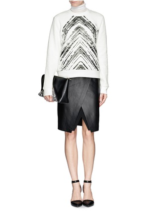 Figure View - Click To Enlarge - SANDRO - 'Twisted' brush print sweatshirt