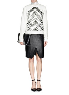 SANDRO 'Twisted' brush print sweatshirt
