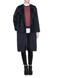 MAJE'Germain' felted wide lapel coat