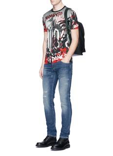 Dolce & GabbanaSicilian musician print cotton T-shirt