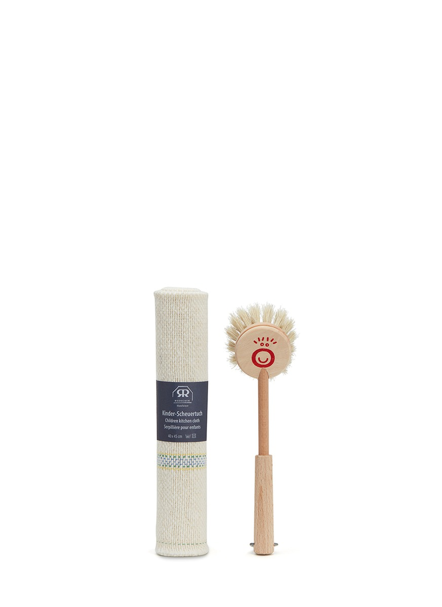 Redecker kids dish brush & cloth set by get.give