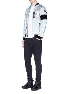 Merrill and ForbesDetachable patch reflective bomber jacket