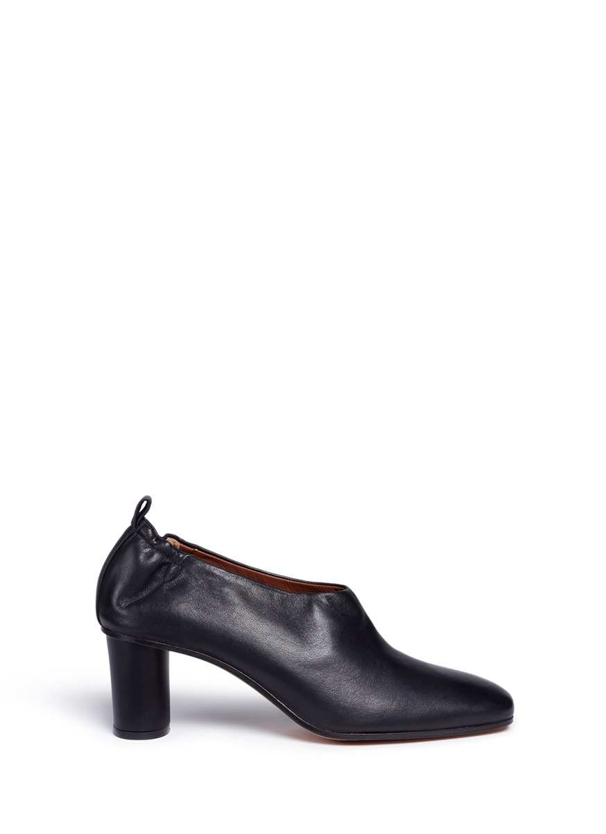 Micol choked-up leather pumps by Gray Matters
