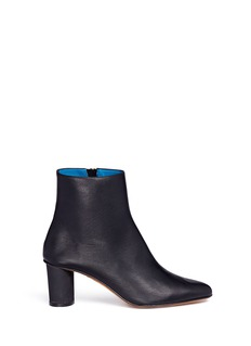 GRAY MATTERS SHOES 'Monika' concrete coated heel leather boots