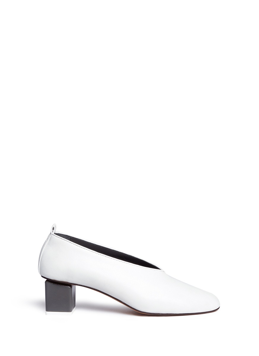 Mildred choked-up leather pumps by GRAY MATTERS SHOES