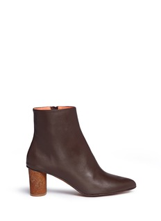 GRAY MATTERS SHOES 'Monika' rust effect concrete heel leather boots