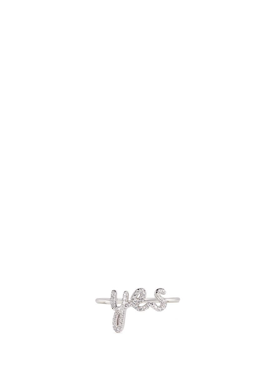 Yes cubic zirconia sterling silver ring by Thea Jewelry