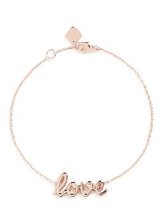 Thea Jewelry'Love' 18k pink gold plated bracelet