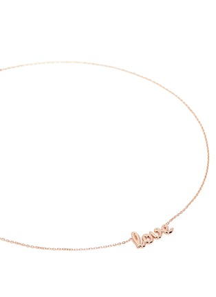 Detail View - Click To Enlarge - Thea Jewelry - 'Love' 18k pink gold plated necklace