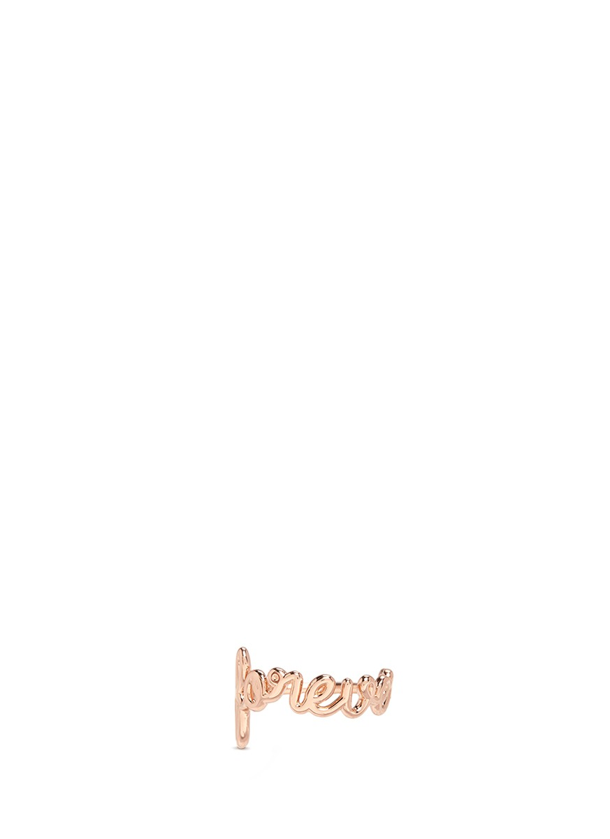 Forever 18k pink gold coated ring by Thea Jewelry