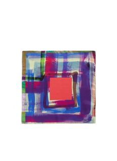 Paul Smith Paint print silk pocket square