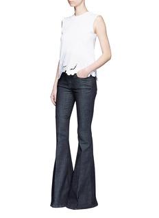 VICTORIA, VICTORIA BECKHAMSlim fit raw denim flared jeans
