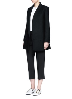 Stella McCartney Single lapel wool blend melton coat