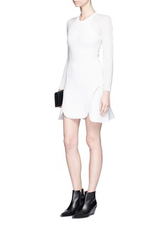 Alexander Wang Laced cutout knit tank dress