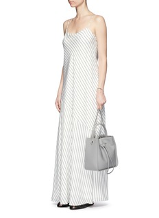 The Row'Streb' stripe satin slip maxi dress