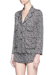 Love Stories'Audrey H' dot print satin pyjama shorts