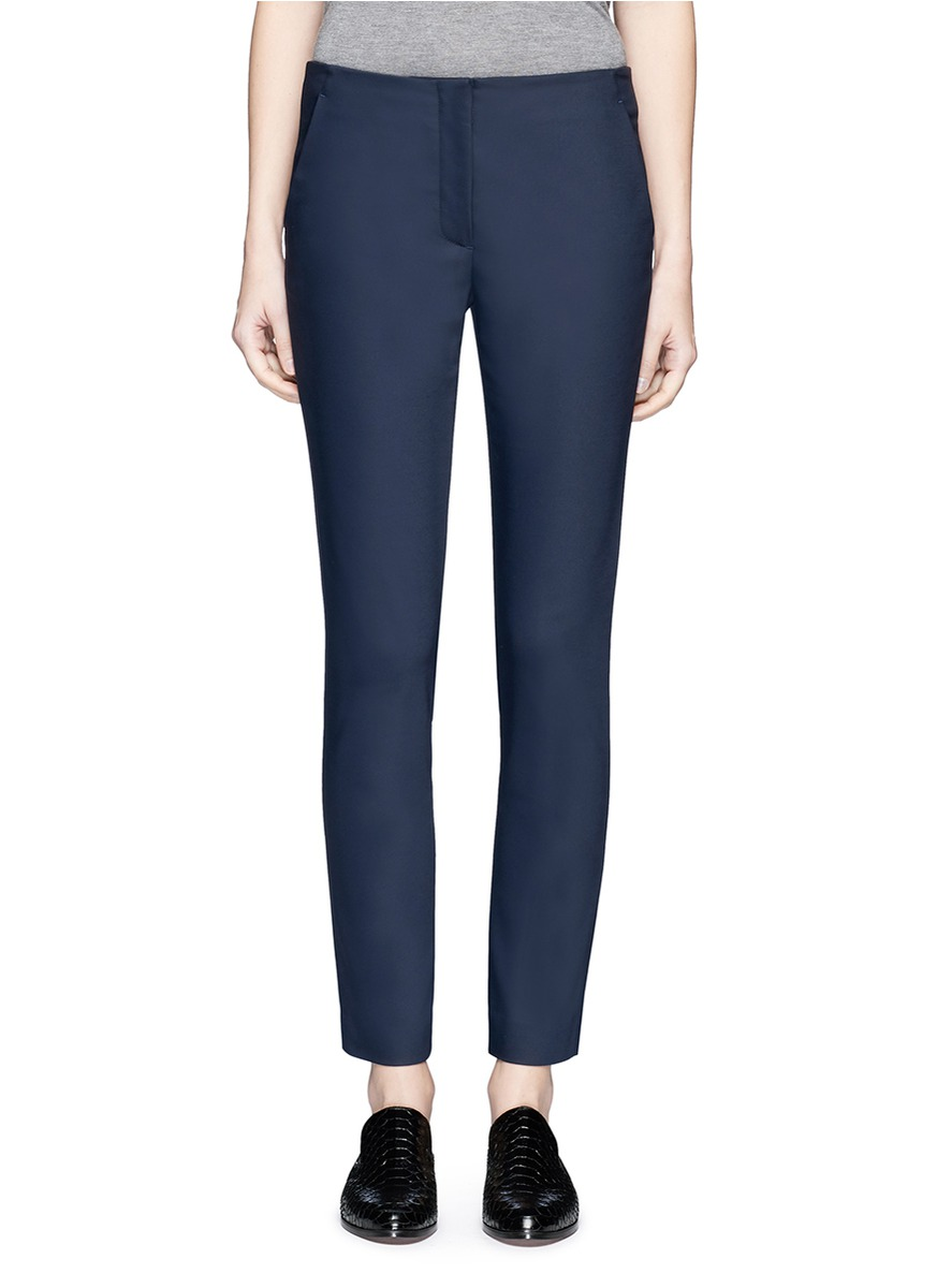 Tips stretch techno slim leg pants by The Row