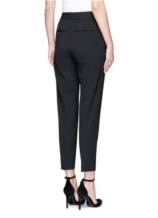 Back View - Click To Enlarge - Alexander Wang  - Side zip cropped tailored pants