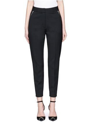 Main View - Click To Enlarge - Alexander Wang  - Side zip cropped tailored pants