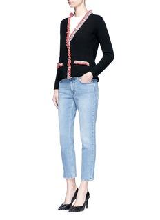 Alexander McQueenCrochet ruffle cashmere cardigan