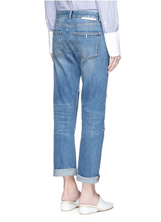 Back View - Click To Enlarge - Stella McCartney - Knee patch straight leg jeans