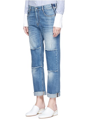 Front View - Click To Enlarge - Stella McCartney - Knee patch straight leg jeans