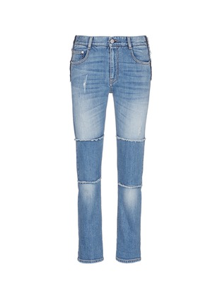 Main View - Click To Enlarge - Stella McCartney - Knee patch straight leg jeans