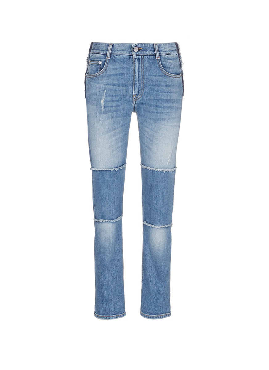 Knee patch straight leg jeans by Stella McCartney