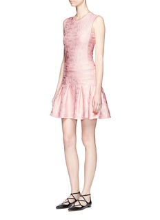 GiambaFlamingo jacquard peplum dress