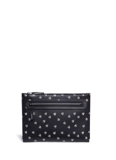 Lanvin 'Pool Spider' print medium leather zip pouch