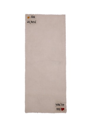 Faliero Sarti - 'You're My' embroidery wool-silk scarf