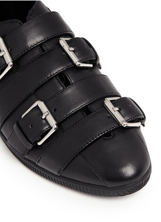 Detail View - Click To Enlarge - Opening Ceremony - 'Novva' buckled strappy leather flats