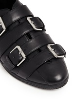 'Novva' buckled strappy leather flats